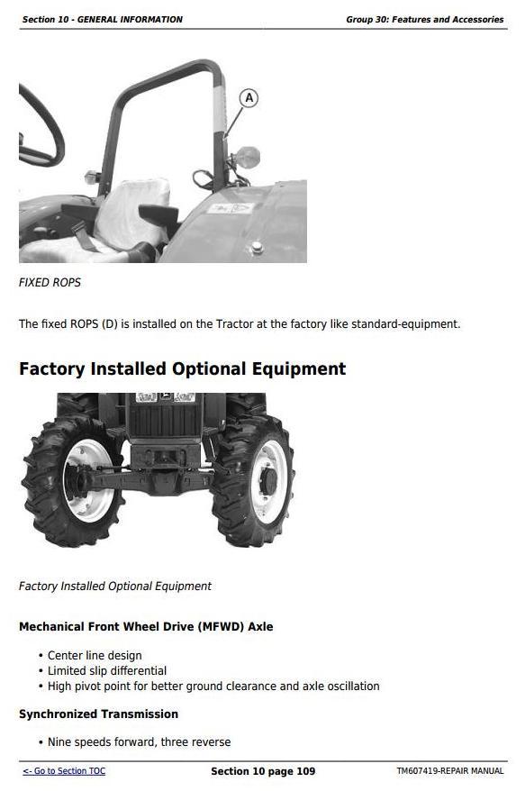 TM607419 - John Deere Tractors 5076E, 5076EL, 5082E, 5090E, 5090EL, 5090EH Service Repair Technical Manual - 2