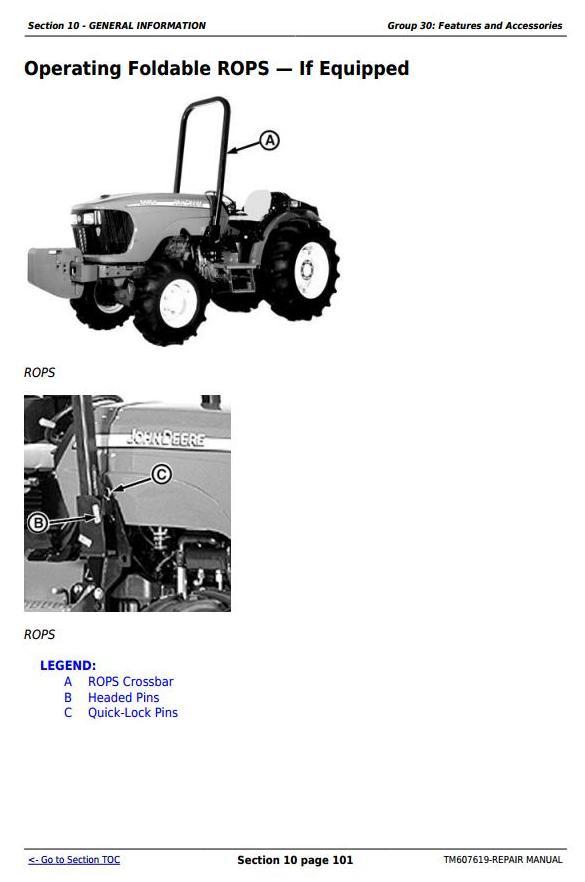 TM607619 - John Deere 5076EF Tractors Service Repair Technical Manual - 2