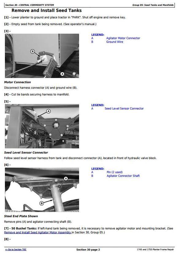 TM609219 - John Deere 1745 and 1755 Planters Frame Service Repair Technical manual - 1