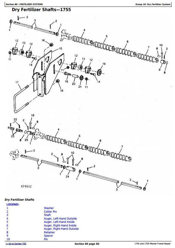 TM609219 - John Deere 1745 and 1755 Planters Frame Service Repair Technical manual - 2