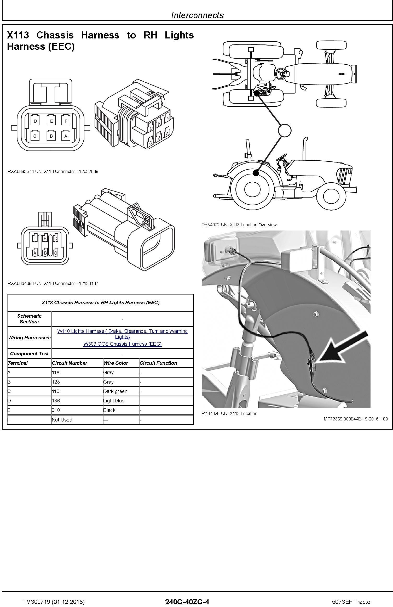 John Deere 5076EF Tractor Diagnostic Technical Service Manual (TM609719) - 2