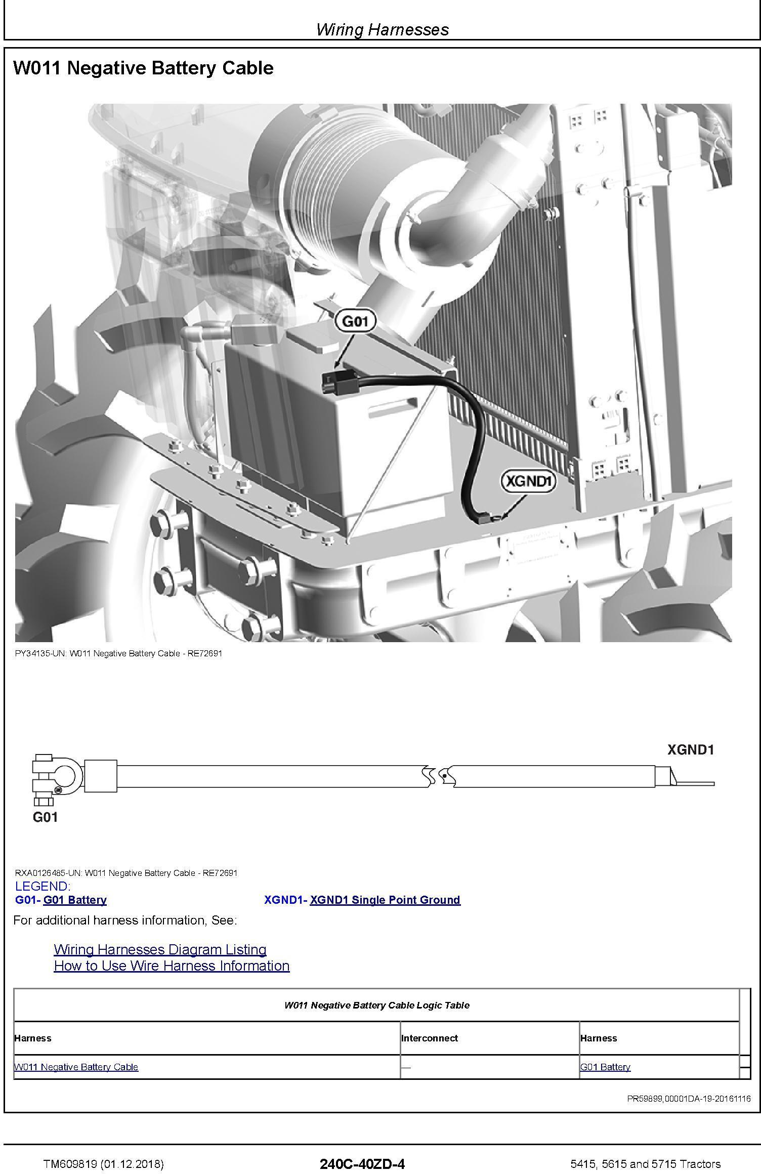 John Deere 5415, 5615 and 5715 Tractors Diagnostic Technical Service Manual (TM609819) - 1