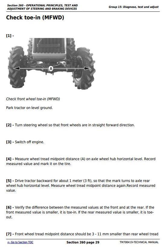TM700419 - John Deere Tractors 280, 284, 300, 304, 320, 324, B350 All Inclusive Technical Service Manual - 2