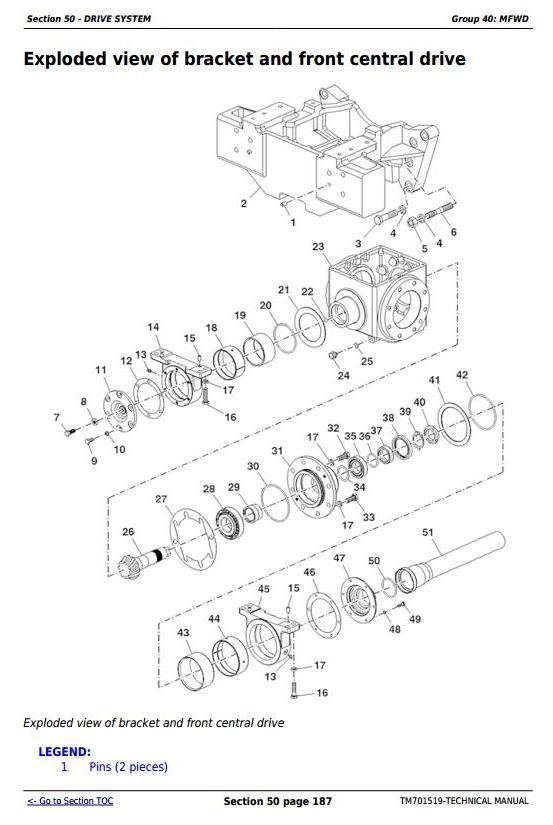 TM701519 - John Deere Tractors 500, 504, B550 and B554 (China) All Inclusive Technical Service Manual - 2