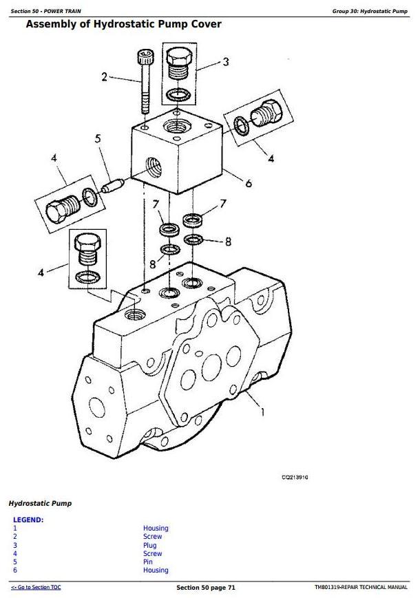 TM801319 - John Deere 1470, 1570, W330 Combines (South America, Europe, CIS) Service Repair Manual - 1