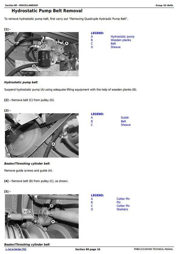 TM801319 - John Deere 1470, 1570, W330 Combines (South America, Europe, CIS) Service Repair Manual - 3