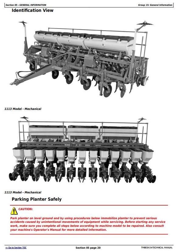 TM803419 - John Deere 1107, 1109, 1111, 1113 Planters (SN.-099999) All Inclusive Technical Manual - 3