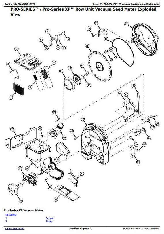 TM803619 - John Deere / Bauer DB50, DB74, DB90 (SN.750101-) Planters Service Repair Technical Manual - 1