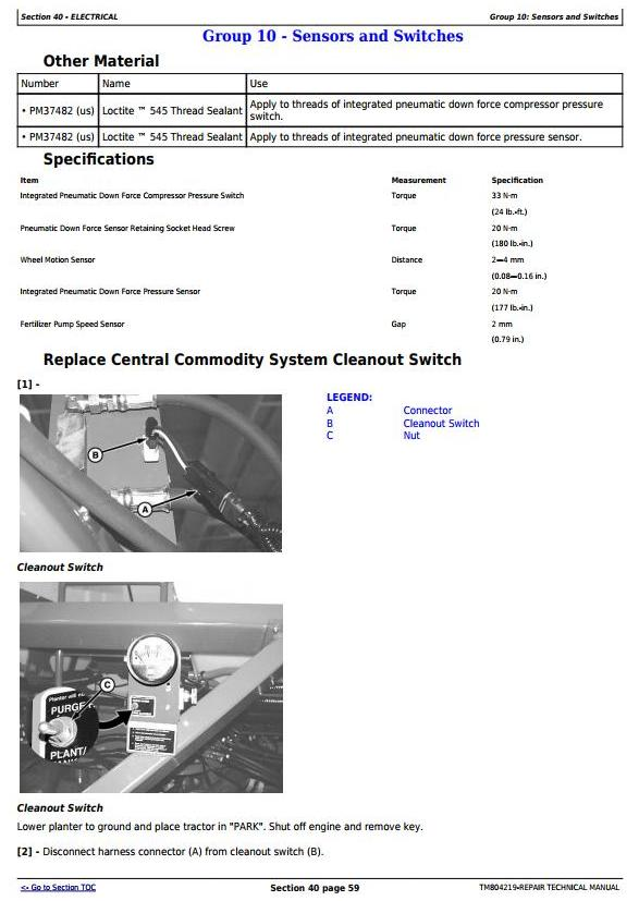 TM804219 - John Deere DB40, DB50, DB74, DB90 South American Planters Service Repair Technical Manual - 1