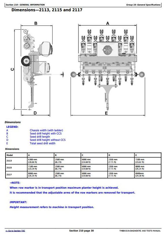 TM804319 - John Deere 2113, 2115, 2117, 2122, 2126, 2130, 2134 Planters Diagnostic Service Manual - 3