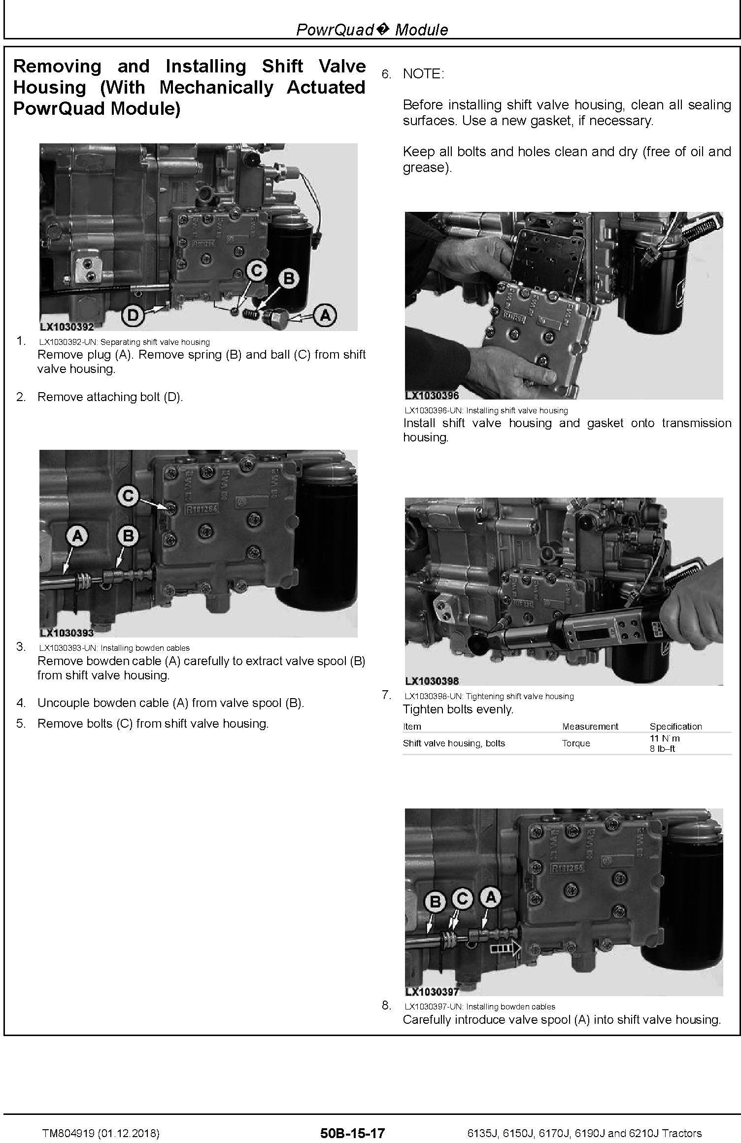 John Deere 6135J, 6150J, 6170J, 6190J and 6210J Tractors Service Repair Technical Manual (TM804919) - 2