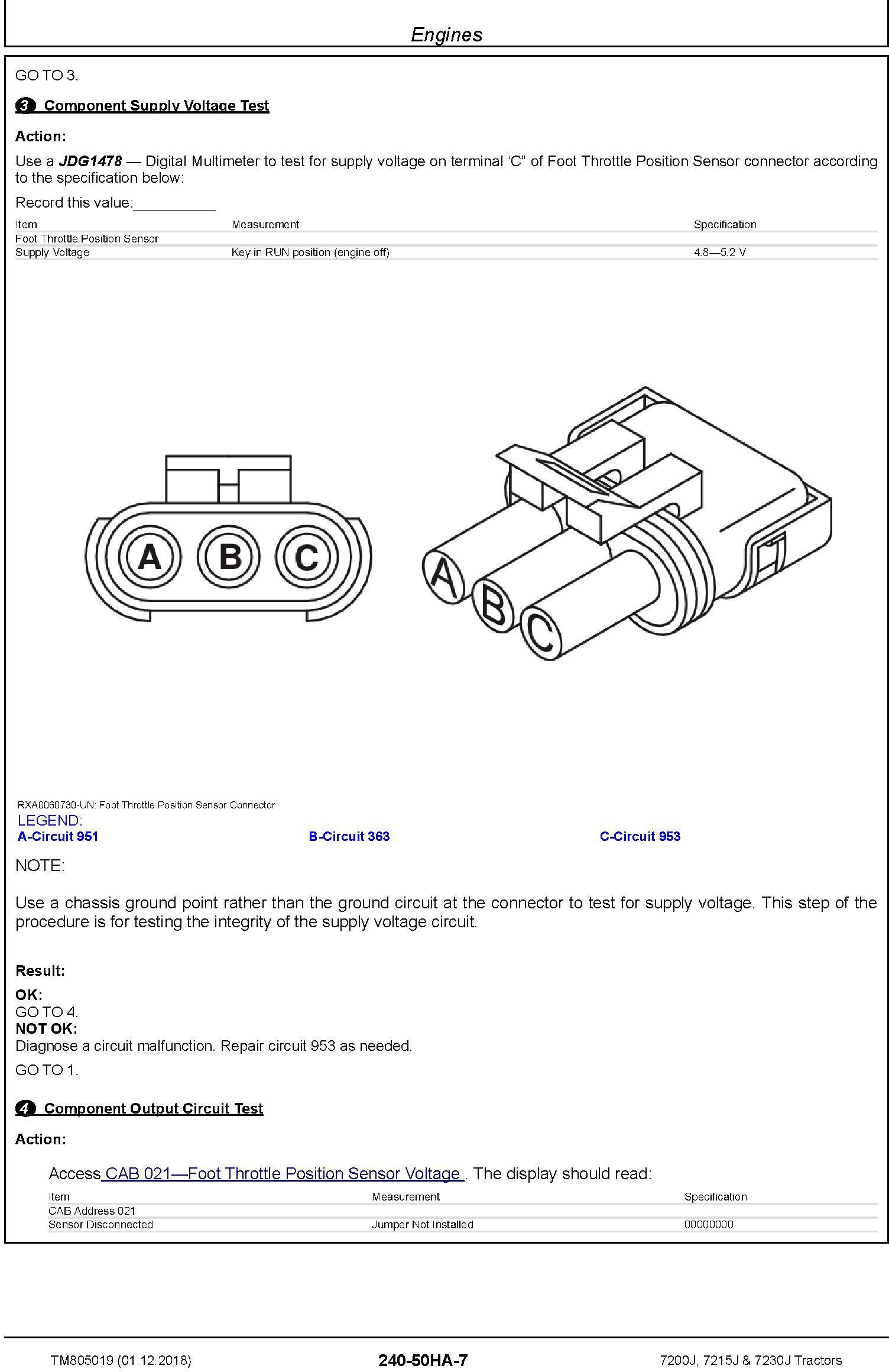 John Deere 7200J, 7215J and 7230J Tractors Diagnostic Technical Service Manual (TM805019) - 2