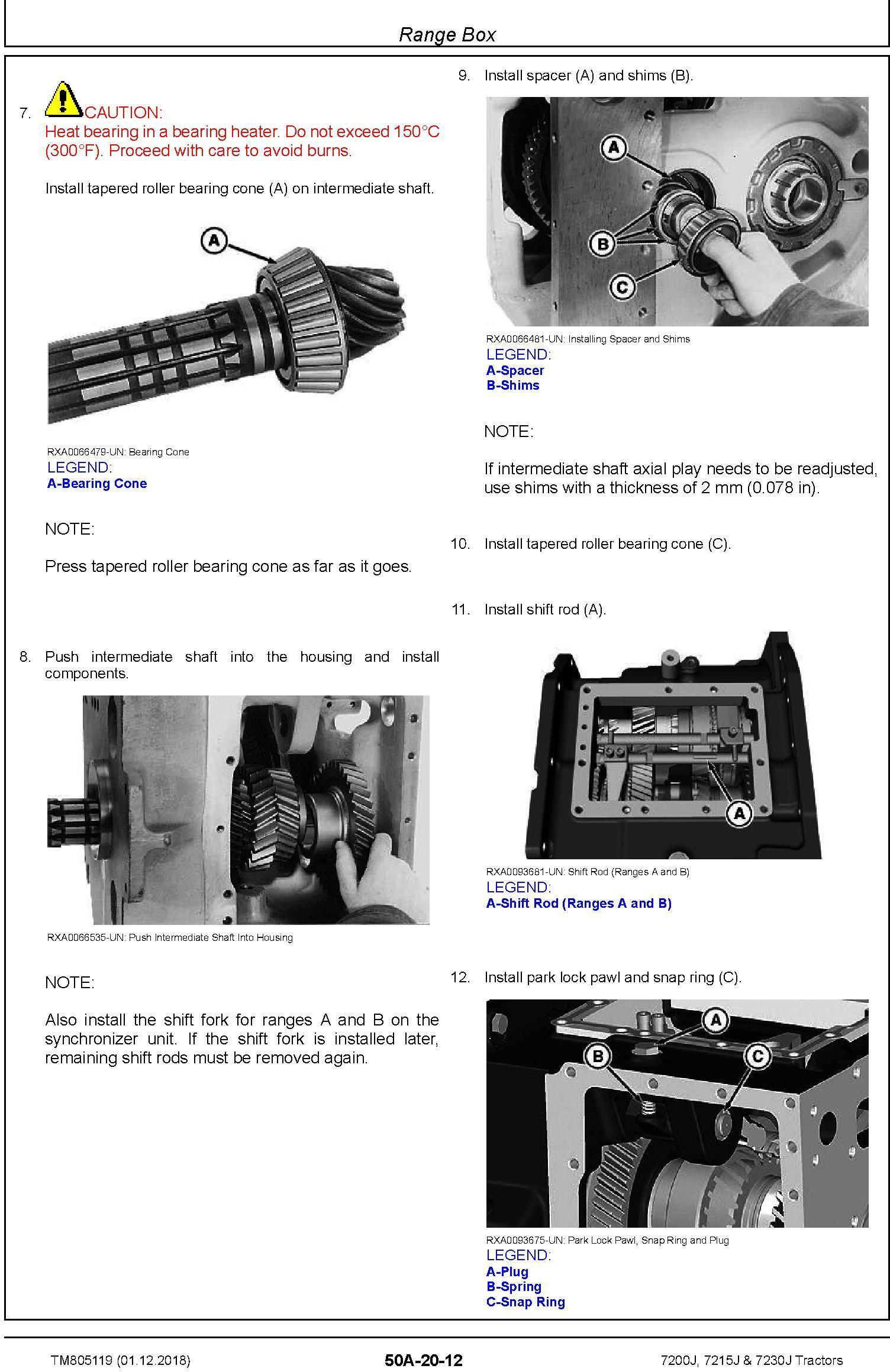 John Deere 7200J, 7215J and 7230J Tractors Service Repair Technical Manual (TM805119) - 3
