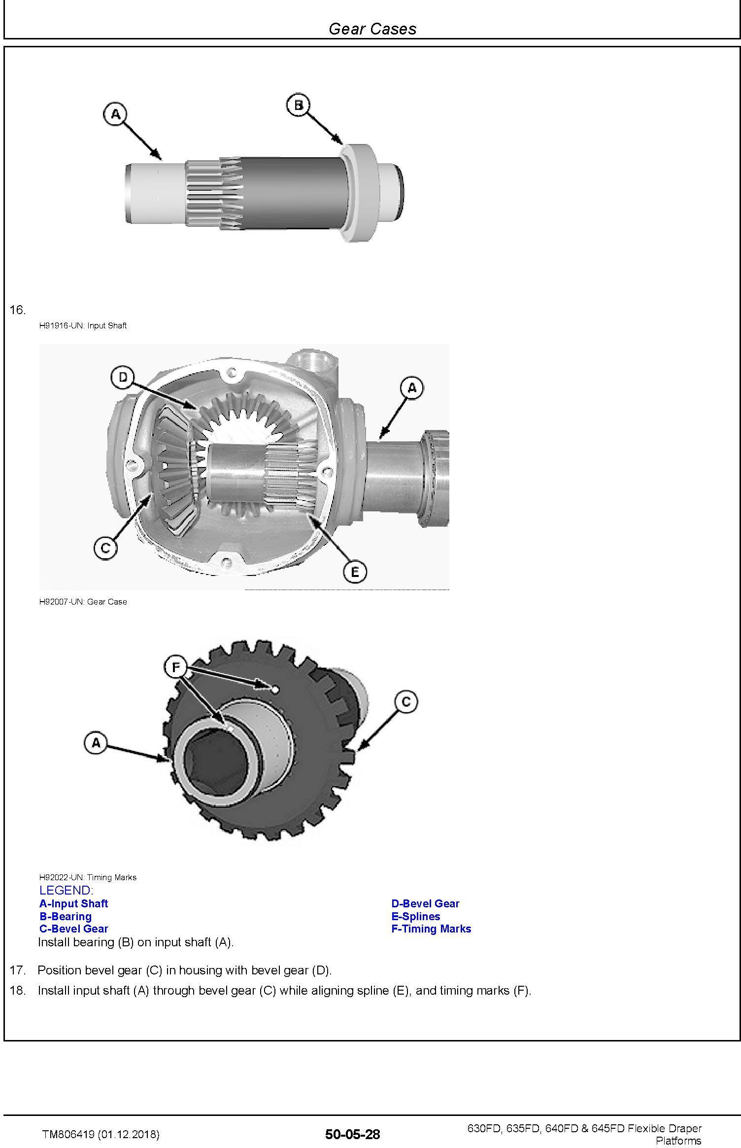 John Deere 630FD, 635FD, 640FD, 645FD Flexible Draper Platform (SN.120100-) Repair Manual (TM806419) - 3