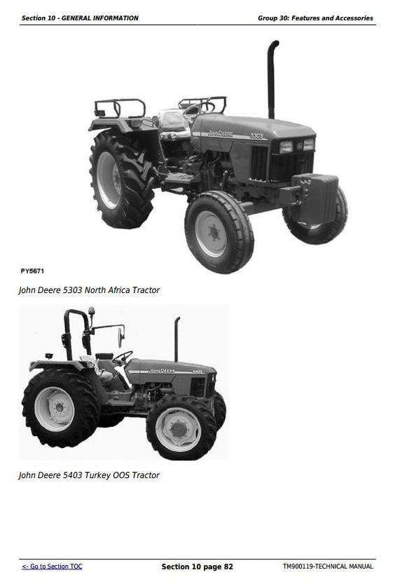 TM900119 - John Deere Tractors 5203S, 5303, 5403, 5503, 5310, 5310S, 5410, 5610 Technical Manual - 3