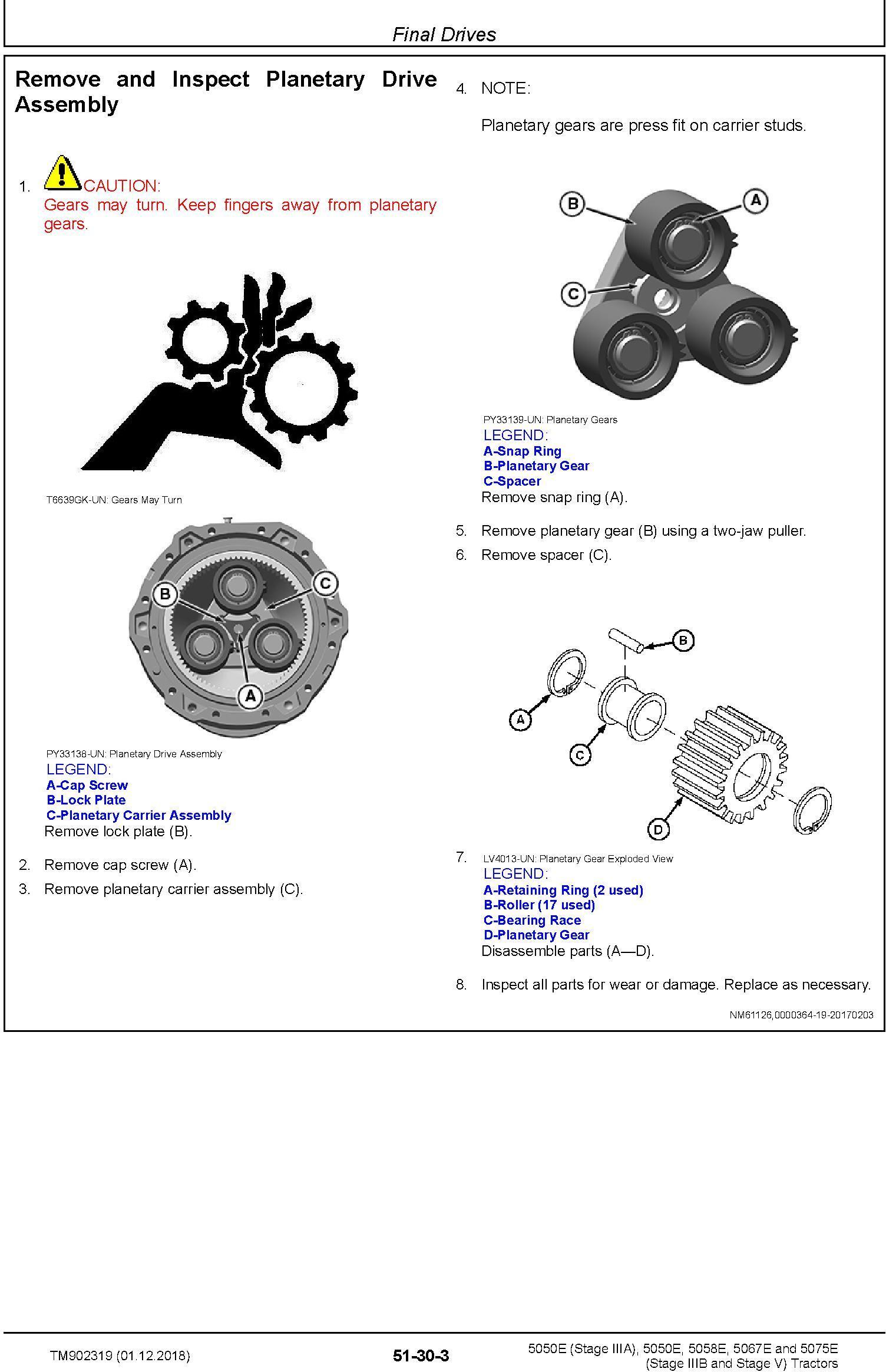 John Deere 5050E, 5050E, 5058E, 5067E, 5075E Tractors Service Repair Technical Manual (TM902319) - 2