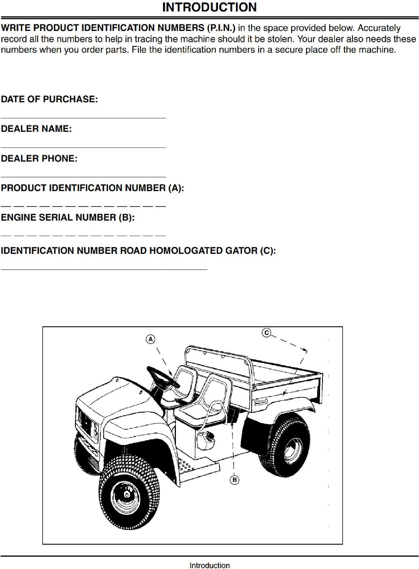 OMM136970 - John Deere 4x2, 6x4 Gator Trail Utility Vehicles Operators Manual - 1