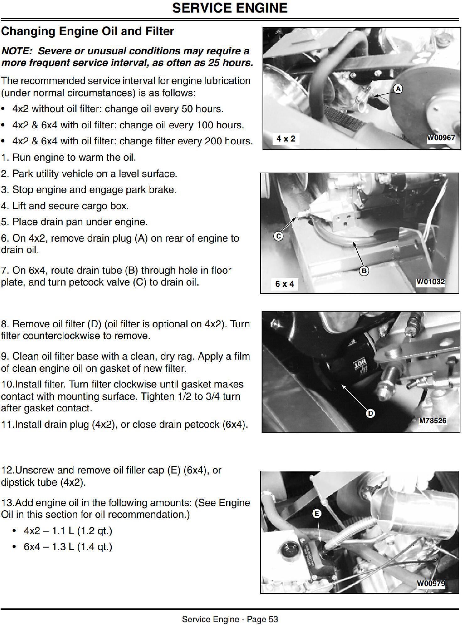 OMM136970 - John Deere 4x2, 6x4 Gator Trail Utility Vehicles Operators Manual - 2