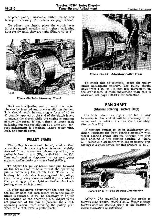 SM2020 - John Deere 720, 730 Tractors Technical Service Manual - 2