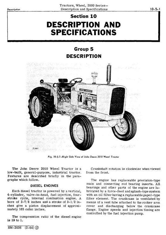 SM2036 - John Deere 2010 Wheel Tractors Service Technical Manual - 1