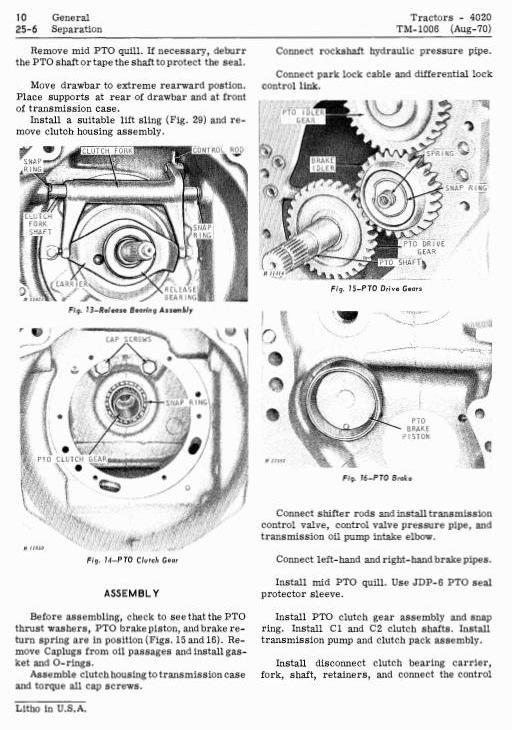 TM1006 - John Deere 4000, 4020 Tractors Diagnostic and Repair Technical Service Manual - 1