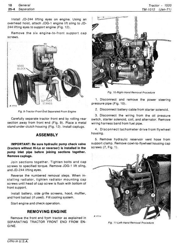 TM1012 - John Deere 1520 Utility Tractor Technical Service Manual - 1