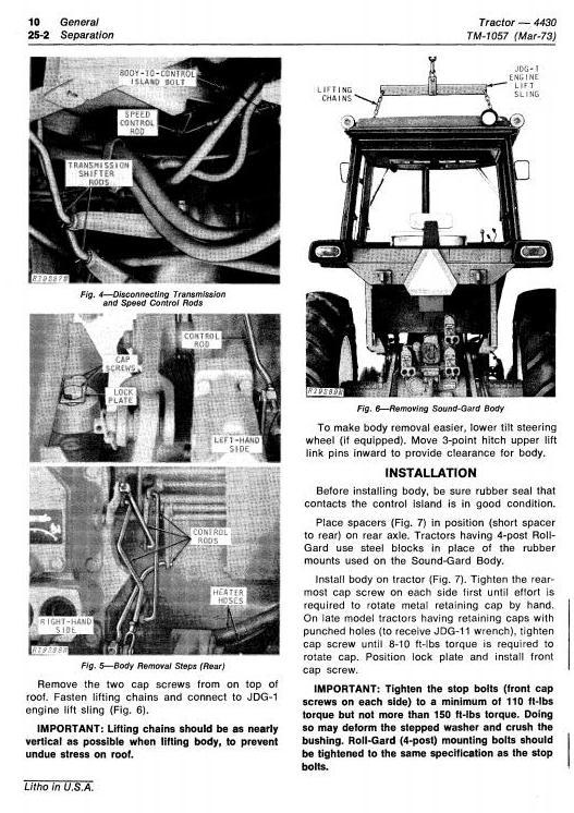 TM1057 - John Deere 4430 Row Crop Tractors (SN.before 033108) Technical Service Manual - 1