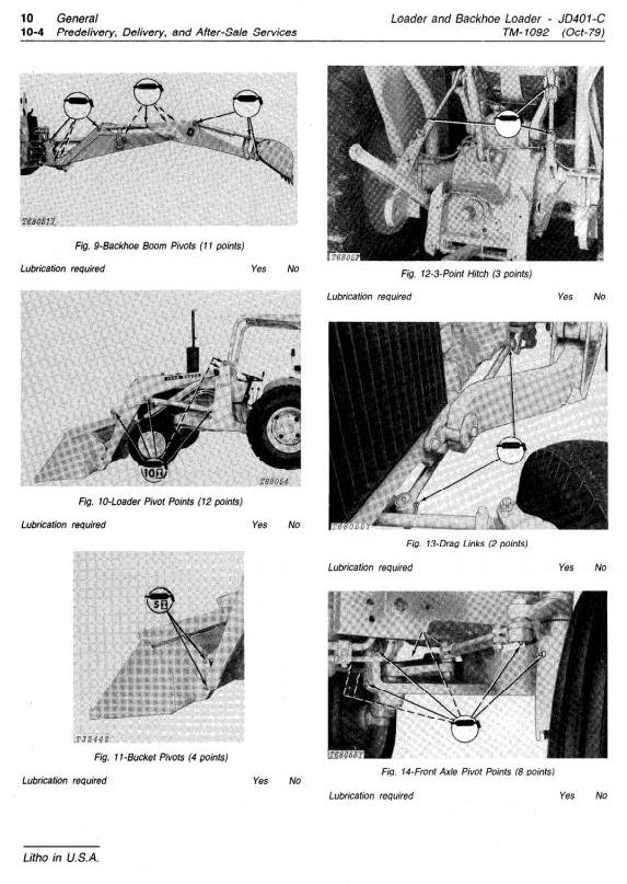 TM1092 - John Deere Utility Construction Tractor, Backhoe Loader Technical Service Manual - 1