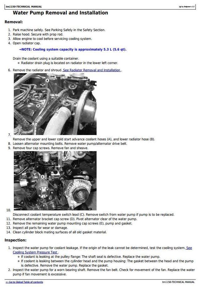 TM1150 - John Deere 3203 Compact Utility Tractors All Inclusive Technical Manual - 1