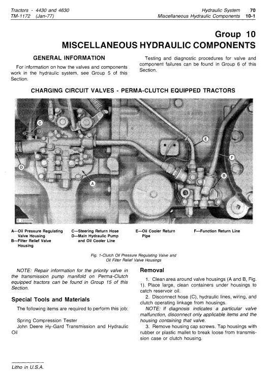 TM1172 - John Deere 4430 (SN.033109-), 4630 (SN.011717-) Row Crop Tractors Technical Service Manual - 3