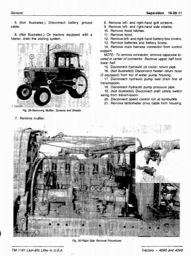 TM1181 - John Deere 4040, 4240 Tractors All Inclusive Technical Manual - 2
