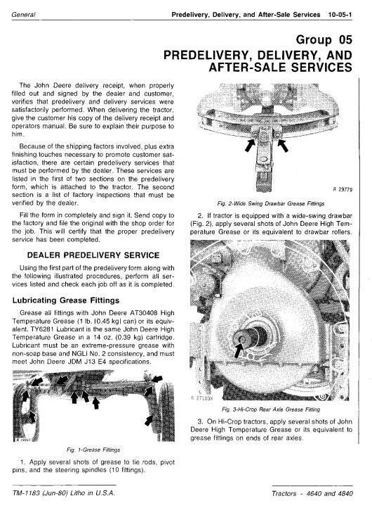 TM1183 - John Deere 4640, 4840 Tractors All Inclusive Technical Manual - 1