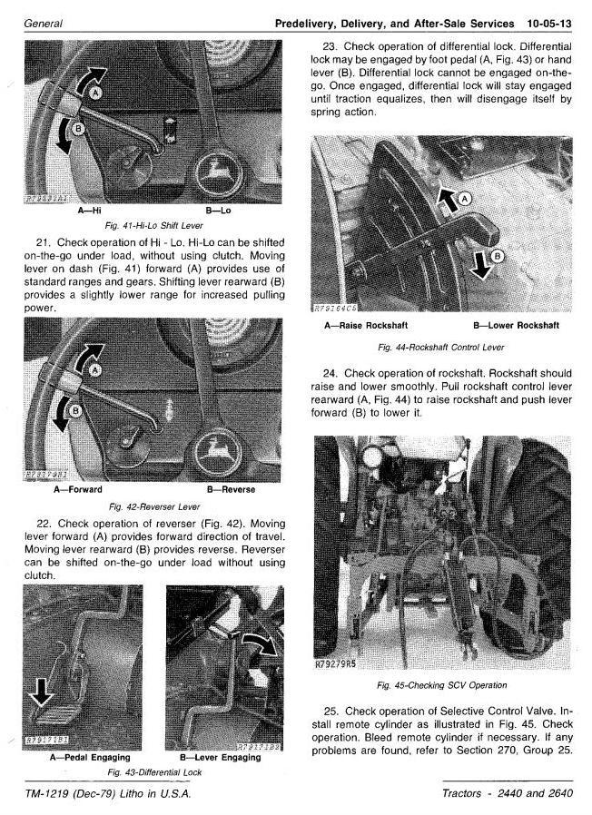 TM1219 - John Deere 2440, 2640 Tractors (SN. 341000-) All Inclusive Technical Service Manual - 1