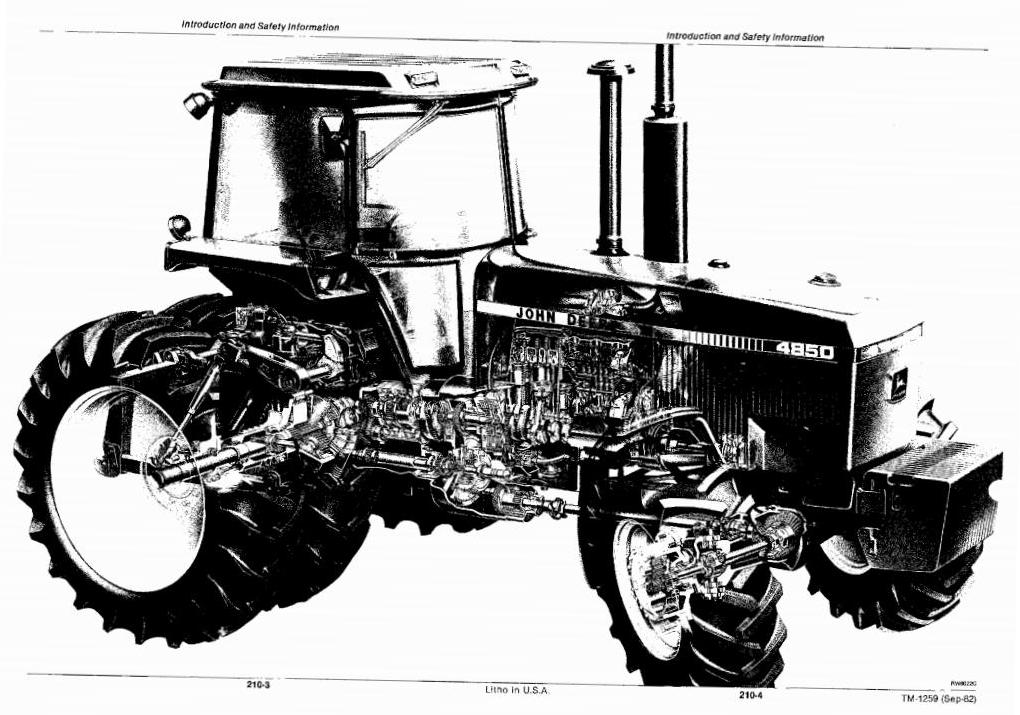 TM1259 - John Deere 4050, 4250, 4450, 4650, 4850 Tractors All Inclusive Technical Service Manual - 1