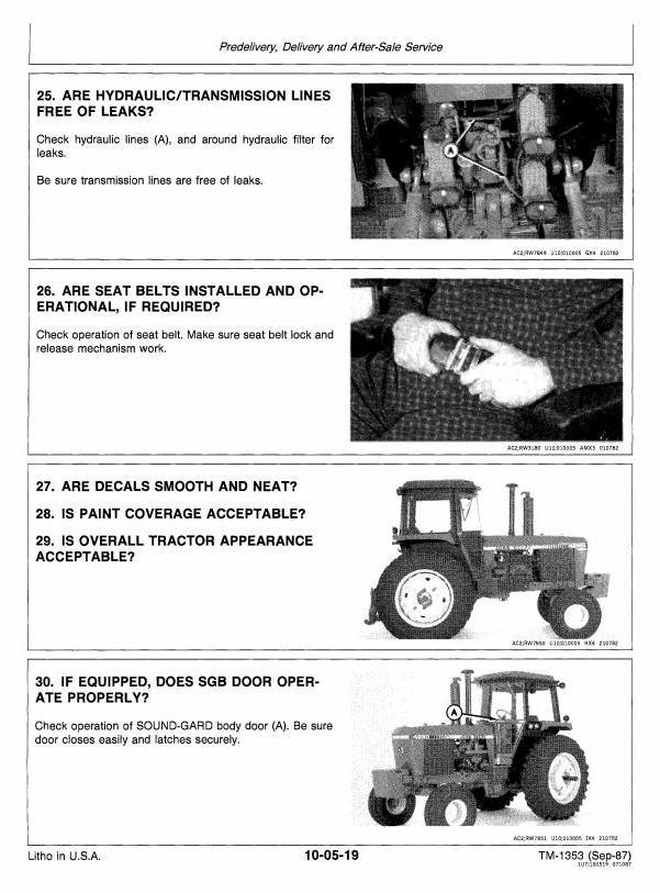 TM1353 - John Deere 4050, 4250, 4450 Tractors All Inclusive Technical Service Manual - 1