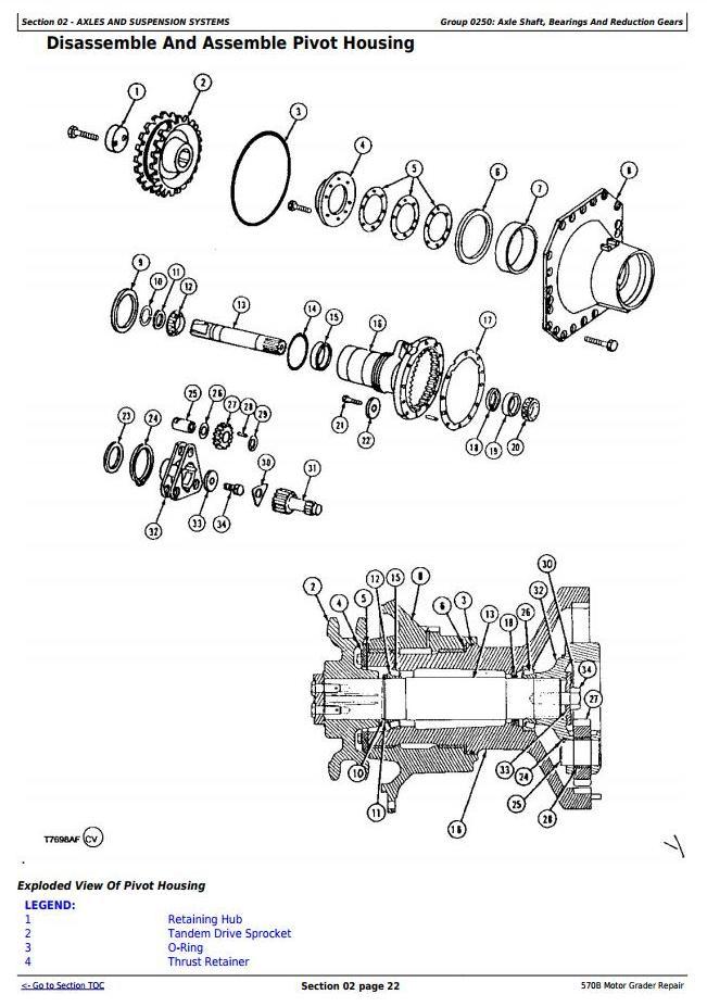 TM1400 - John Deere 570B Motor Grader Service Repair Technical Manual - 1