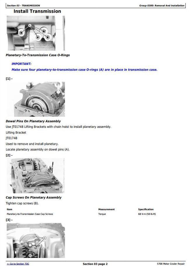 TM1400 - John Deere 570B Motor Grader Service Repair Technical Manual - 2