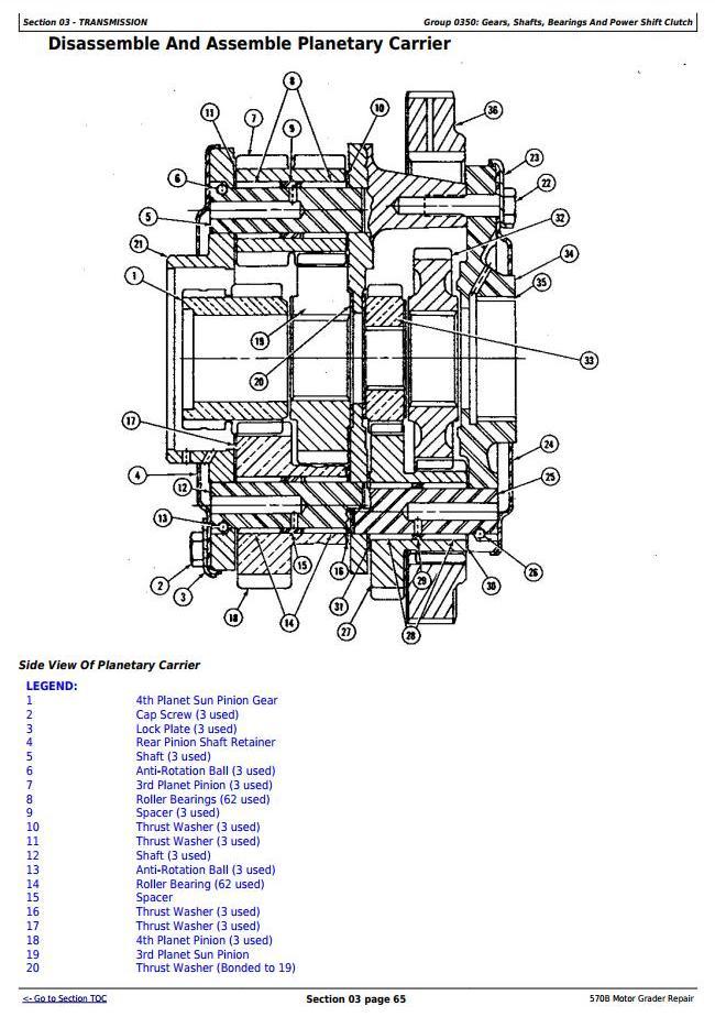 TM1400 - John Deere 570B Motor Grader Service Repair Technical Manual - 3