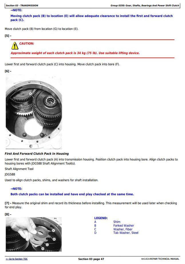 TM1414 - John Deere 544E, 544E LL, 544E TC, 624E and 644E 4WD Loader Service Repair Technical Manual - 2
