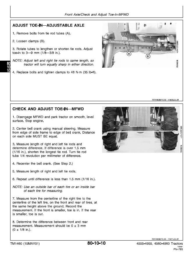 TM1460 - John Deere 4555, 4560, 4755, 4760, 4955, 4960 Tractors Service Repair Technical Manual - 3