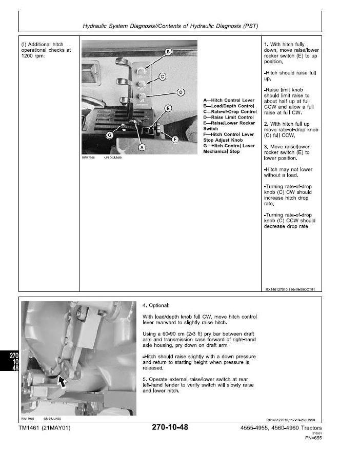TM1461 - John Deere 4555, 4560, 4755, 4760, 4955, 4960 Tractors Diagnosis and Tests Service Manual - 3