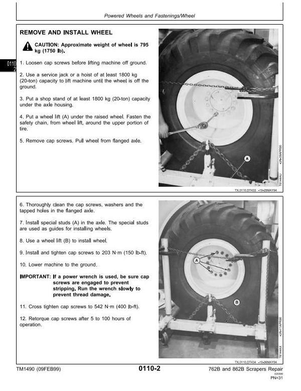 TM1490 - John Deere 762B (SN.-791763), 862B (SN.-793082) Scraper Service Repair Technical Manual - 3