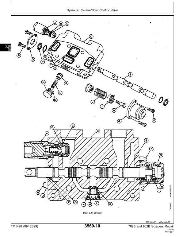 TM1490 - John Deere 762B (SN.-791763), 862B (SN.-793082) Scraper Service Repair Technical Manual - 1