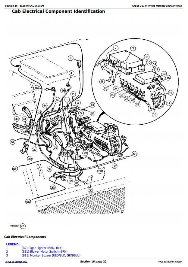 TM1505 - John Deere 490E Excavator Service Repair Technical Manual - 1