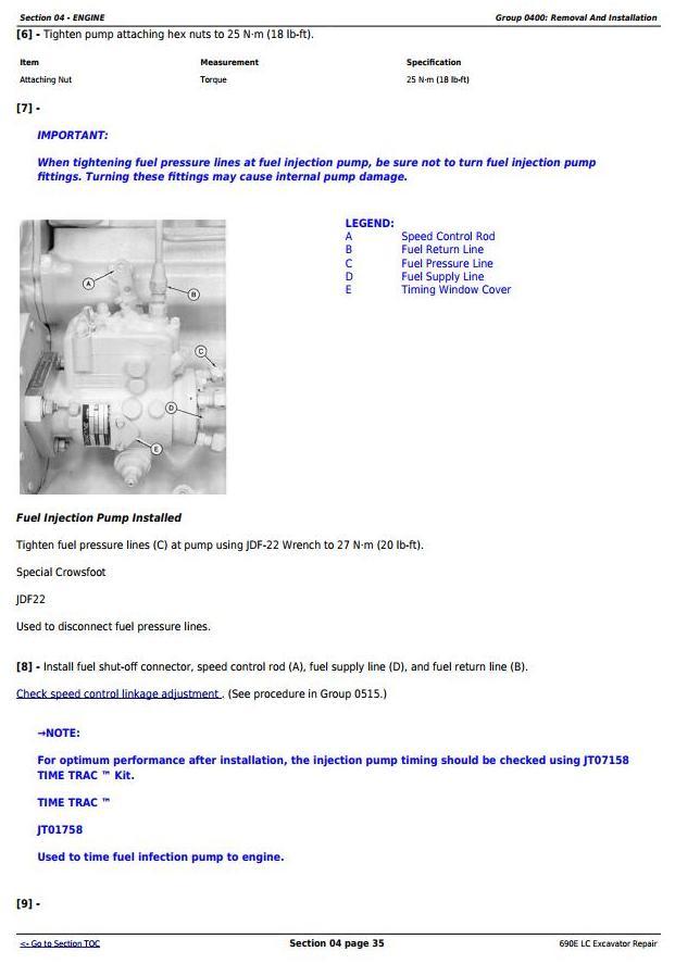TM1509 - John Deere 690E LC Excavator Service Repair Technical Manual - 1