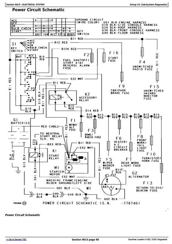 TM1512 - John Deere Backhoe Loaders 410D, 510D Diagnostic, Operation and Test Service Manual - 1