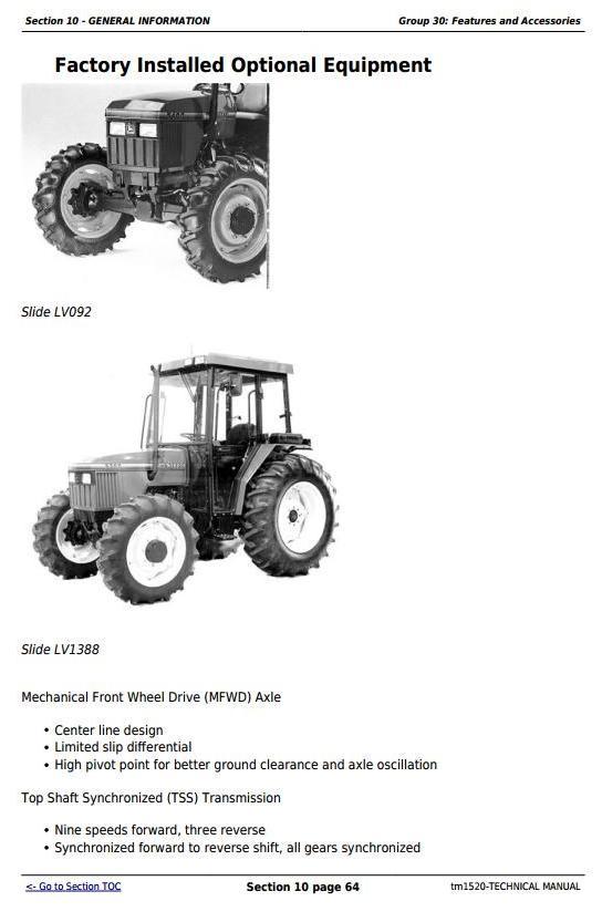 TM1520 - John Deere Tractors 5200, 5300, 5400 and 5500 All Inclusive Diagnostic, Repair Technical Manual - 3