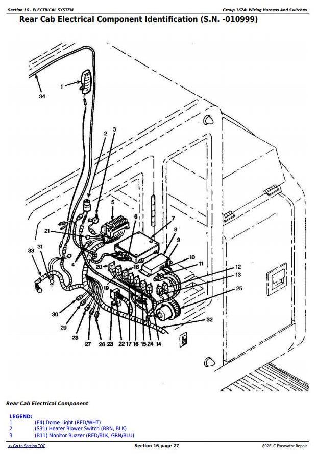 TM1542 - John Deere 892ELC Excavator Service Repair Technical Manual - 2