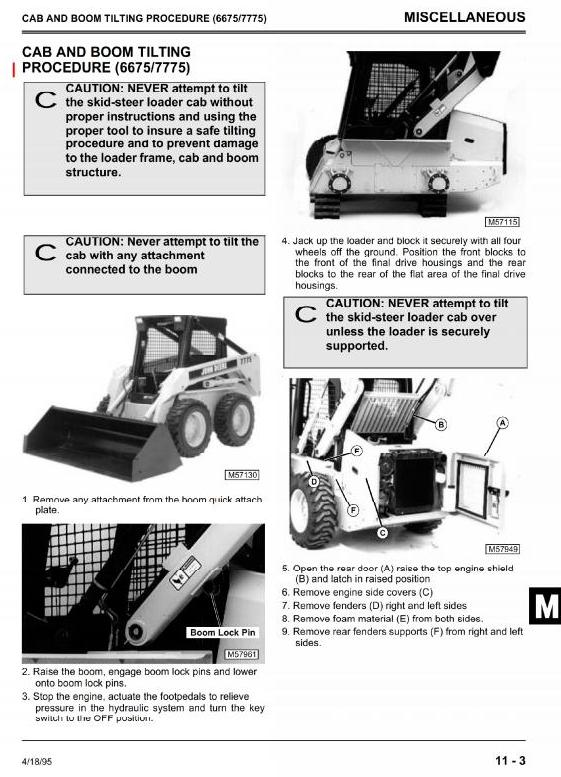 TM1553 - John Deere 4475, 5575, 6675, 7775 Skid Steer Loader All Inclusive Technical Service Manual - 3