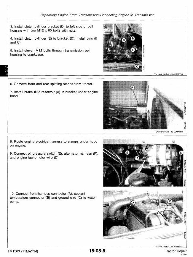 TM1563 - John Deere 2000, 2100, 2200, 2300, 2400 Tractors Technical Service Manual - 1